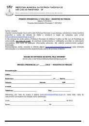 Edital 071-2013 - Prefeitura Municipal de São Luiz do Paraitinga