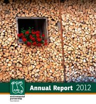 Annual Report 2012 - Romanian Environmental Partnership