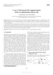 A new CUDA-based GPU implementation of the two-dimensional ...