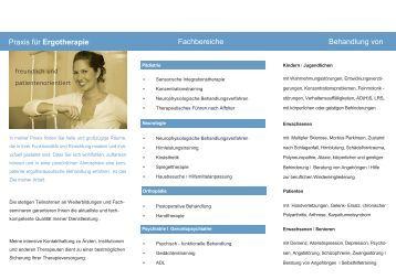 Ergotherapie - Praxis für Ergotherapie Miriam Priebe