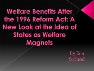 Erin Sollund on the Effects of Welfare Reform