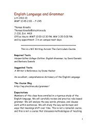 English Language and Grammar