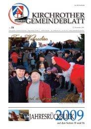 Nr. 06 (Dez. 2009 - 36 Seiten) - Gemeinde Kirchroth