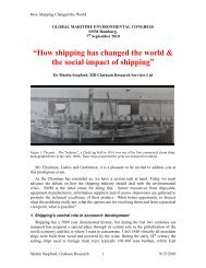 """""""How shipping has changed the world & the social impact of shipping"""""""