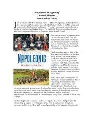 'Napoleonic Wargaming' By Neil Thomas - Lone Warrior Blog