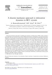 A discrete mechanics approach to dislocation dynamics in BCC ...