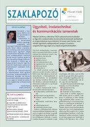 Ügyviteli, irodatechnikai és kommunikációs ismeretek - Műszaki ...