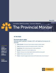 IN THIS ISSUE: Provincial outlook update: Moderate growth ... - VMBL
