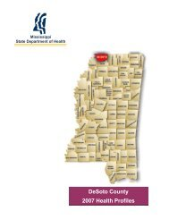 DeSoto County 2007 Health Profiles - Mississippi State Department ...