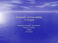 The work of Anti-Corruption Network of Finland - KNAB