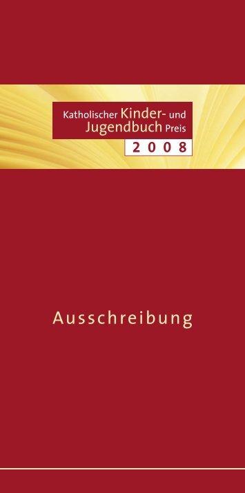 Ausschreibung Kinder- und Jugendbuchpreis 2008 - katholisch.de