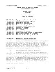 chapter 700-x-2 licensure - Alabama Administrative Code