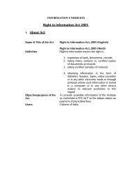 Information under Sec. 4(1)b of RTI Act - IUAC