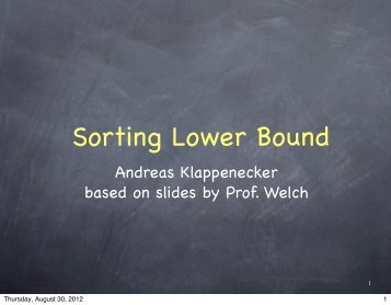 Slides Set 3 - TAMU Computer Science Faculty Pages