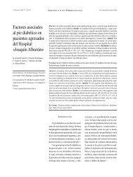 Factores asociados al pie diabético en pacientes egresados del ...