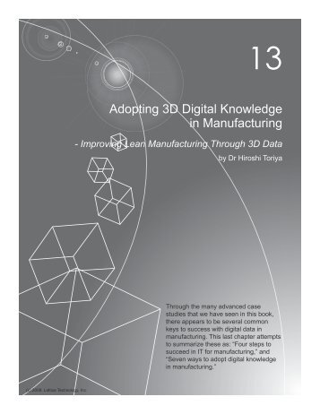 Adopting 3D Digital Knowledge in Manufacturing - Lattice Technology