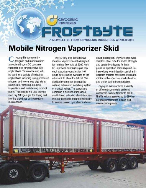 Mobile Nitrogen Vaporizer Skid C - Cryogenic Industries