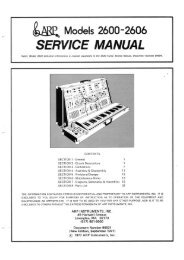 Arp 2600 Service Manual - Synth Zone