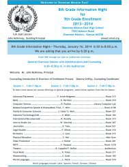 8th Grade Information Night for Incoming 9th Graders ... - Teachers