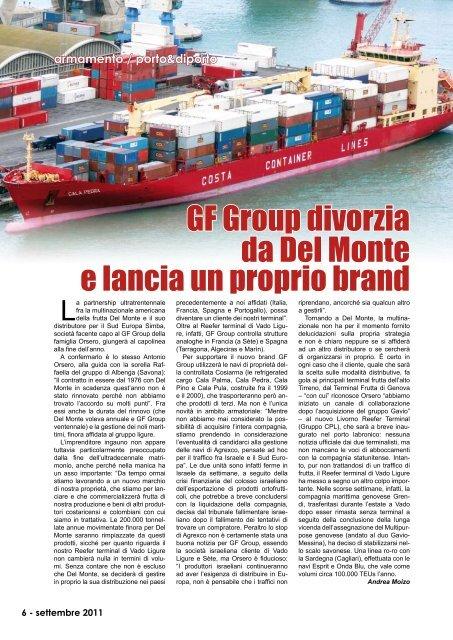 GF Group divorzia da Del Monte e lancia un proprio ... - Porto & diporto