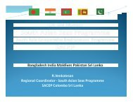 South Asia Co-operative Environment Programme - International ...