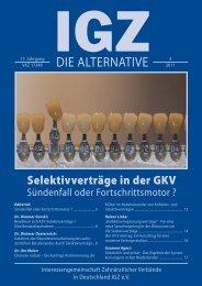 Ausgabe 3-2011 - IGZ