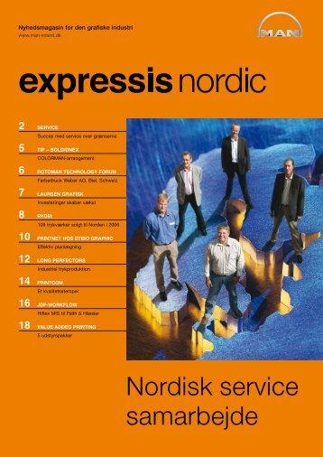 Nordisk service samarbejde - manroland