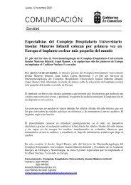Especialistas del Complejo Hospitalario Universitario Insular ...