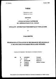 Modélisation et évaluation de performances prévisionnelles d ...