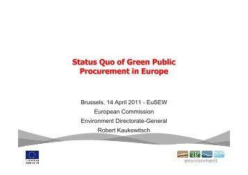 Status Quo of Green Public Procurement in Europe - Buy Smart