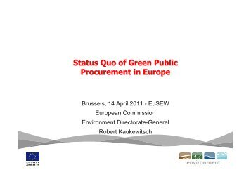 Status Quo of Green Public Procurement in Europe - Buy Smart