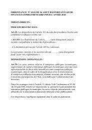 ordonnance n° 10-01 du 26 aout 2010 portant loi de finances ...
