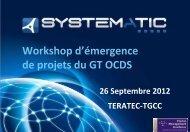 Workshop d'émergence de projets du GT OCDS - Systematic