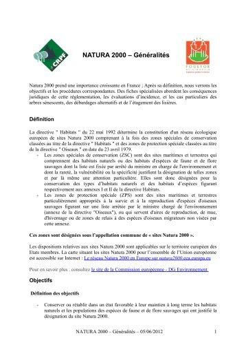NATURA 2000 – Généralités - CRPF Limousin