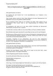 15.01.07 Neujahresempfang Rede Frank - SPD Mülheim an der Ruhr