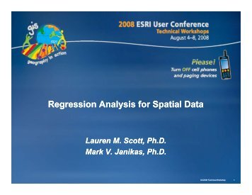 Regression Analysis for Spatial Data