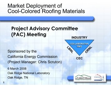 2008-03-06 LBNL/ORNL Presentation [format: PDF] - The Cool ...