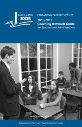 Coaching Network 2010 - 2011 Catalogue - Eastern Suffolk BOCES