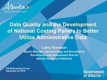 Administrative Data - Institute of Health Economics