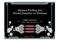 Xcon2005_Profiling_Malware_and_Rootkits_from_Ke..