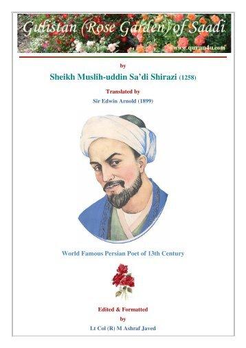 Sheikh Muslih-uddin Sa'di Shirazi (1258)