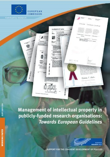 Management of intellectual property in publicly-funded research