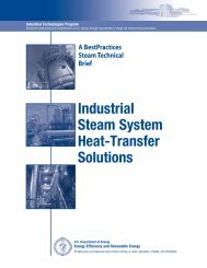 Industrial Steam System Heat-Transfer Solutions - EERE - U.S. ...