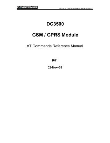 DC3500 AT Commands Manual 500242R01 ... - Cooking Hacks