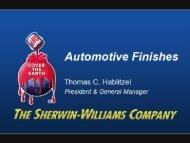 2010 Financial Community Presentation ... - Sherwin-Williams