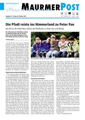 Ausgabe 43 vom 25.Oktober 2013 [PDF, 2.95 MB] - Maurmer Post