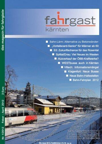 April 2012 2 Euro das ma g azin für fahrg äste - Fahrgast Kärnten