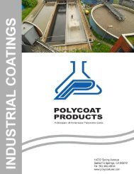 Industrial Coatings Catalog - Polycoat Products