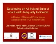 Developing an All-Ireland Suite of Local Health Inequality Indicators: