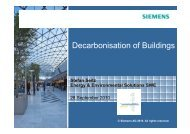 Decarbonisation of Buildings